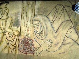 Mary at Jesus' feet